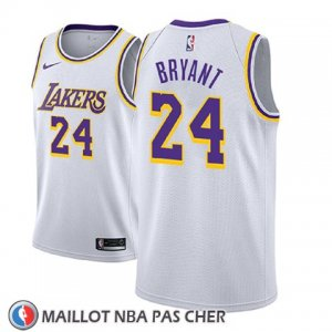 Maillot Enfant Los Angeles Lakers Kobe Bryant No 24 Association 2018-19 Blanc