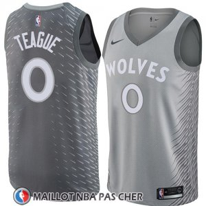 Maillot Minnesota Timberwolves Jeff Teague No 0 Ciudad 2018 Gris