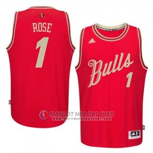 Maillot Rose Chicago Bulls Noël #1 Rouge