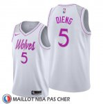 Maillot Minnesota Timberwolves Gorgui Dieng Earned Blanc