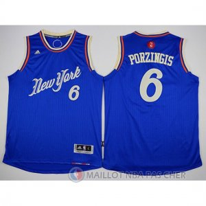 Maillot New York Knicks Porzingis No?l #6 Bleu