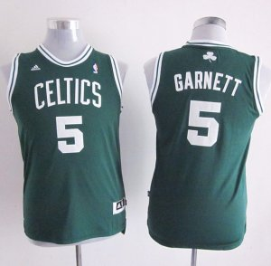 Maillot Enfant de Vert Garnett Boston Celtics Revolution 30