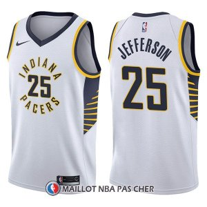 Maillot Indiana Pacers Al Jefferson Association 25 2017-18 Blanc