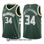 Maillot Enfant Milwaukee Bucks Giannis Antetokounmpo Icon 2017-18 34 Vert
