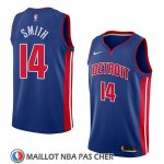 Maillot Detroit Pistons Ish Smith No 14 Icon 2018 Bleu