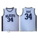 Maillot NBA NCAA Ecole Secondaire Bias 34# Blanc