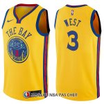 Maillot Golden State Warriors David West Chinese Heritage Ciudad 3 2017-18 Or