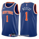Maillot New York Knicks Emmanuel Mudiay Icon 1 2017-18 Bleu