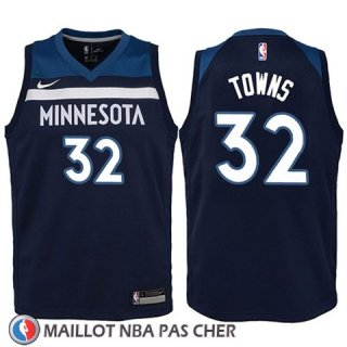 Maillot Enfant Minnesota Timberwolves Karl-anthony Towns No 32 2017-18 Bleu