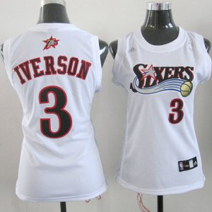 Maillot 76ers Femme Iverson 3 Blanc