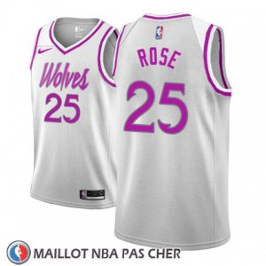 Maillot Minnesota Timberwolves Derrick Rose No 25 Earned 2018-19 Gris