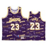 Maillot Los Angeles Lakers Lebron James Hardwood Classics Tear Up Pack Volet