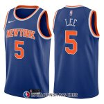 Maillot New York Knicks Courtney Lee Icon 5 2017-18 Bleu