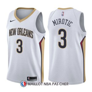 Maillot New Orleans Pelicans Nikola Mirotic Association 3 2017-18 Blanc