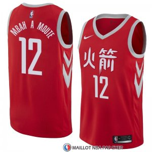 Maillot Houston Rockets Luc Mbah a Moute Ville 2018 Rouge