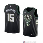 Maillot Milwaukee Bucks Shabazz Muhammad Statement 2018 Noir