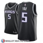 Maillot Sacramento Kings De'aaron Fox No 5 Statement 2018-19 Noir
