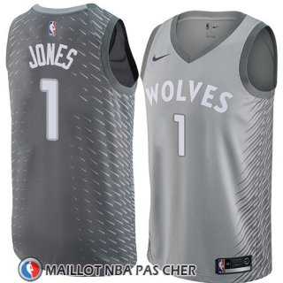 Maillot Minnesota Timberwolves Tyus Jones No 1 Ciudad 2018 Gris