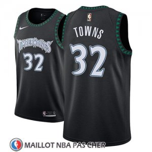 Maillot Minnesota Timberwolves Karl-anthony Towns No 32 Classic 2018 Noir