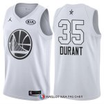 Maillot All Star 2018 Golden State Warriors Kevin Durant 35 Blanc