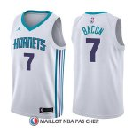 Maillot Charlotte Hornets Dwayne Bacon Association 7 2017-18 Blanc