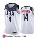 Maillot USA Khris Middleton 2019 FIBA Basketball World Cup Blanc
