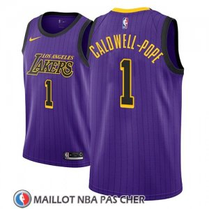 Maillot Los Angeles Lakers Kentavious Caldwell-pope No 1 Ciudad 2018 Volet