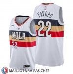 Maillot New Orleans Pelicans Derrick Favors Earned Blanc