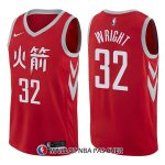 Maillot Houston Rockets Brandan Wright Ciudad 32 2017-18 Rouge
