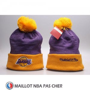 Bonnet Los Angeles Lakers Volet Jaune