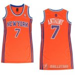 Maillot Femme de Anthony New York Knicks #7 Orangee