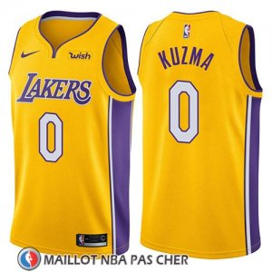 Maillot Los Angeles Lakers Kyle Kuzma No 0 Icon 2018 Jaune