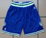 Short Retro Minnesota Timberwolves Bleu