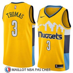 Maillot Denver Nuggets Isaiah Thomas Statement 2018 Jaune