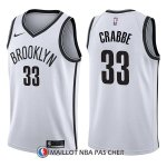 Maillot Brooklyn Nets Allen Crabbe Association 33 2017-18 Blanc