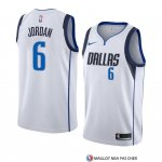 Maillot Dallas Mavericks Deandre Jordan Association 2018-19 Blanc