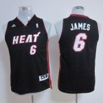 Maillot Enfant de Noir James Miami Heat Revolution 30