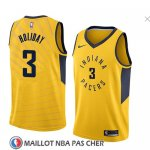 Maillot Indiana Pacers Aaron Holiday No 3 Statement 2018 Jaune