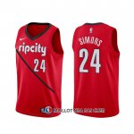 Maillot Portland Trail Blazers Anfernee Simons Earned Rouge
