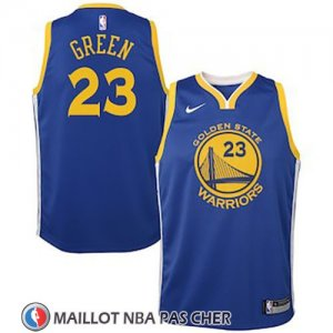 Maillot Enfant Golden State Warriors Draymond Green No 23 2018 Bleu