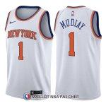 Maillot New York Knicks Emmanuel Mudiay Association 1 2017-18 Blanc