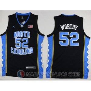 Maillot NBA NCAA Worthy Norte Carolina Noir
