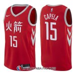 Maillot Houston Rockets Clint Capela Ciudad 15 2017-18 Rouge