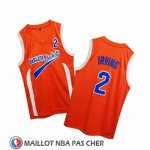 Maillot Uncle Drew Kyrie Irving No 2 Harlem Buckets Orange