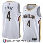 Maillot New Orleans Pelicans Charles Cooke No 4 Association 2018 Blanc