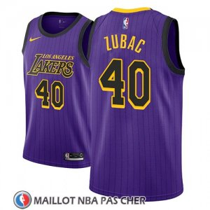 Maillot Los Angeles Lakers Ivica Zubac No 40 Ciudad 2018 Volet