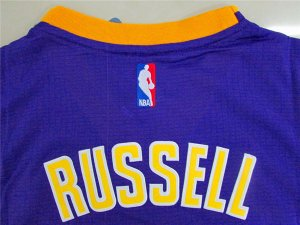 Maillot Manche Courte Lakers Russell 1 Pourpre