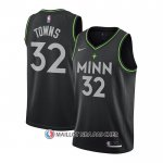 Maillot Minnesota Timberwolves Karl-Anthony Towns Ville 2020-21 Noir