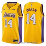 Maillot Authentique Los Angeles Lakers Ingram 2017-18 14 Jaune