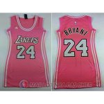 Maillot Femme de Bryant Los Angeles Lakers #24 Rose